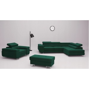 """Wild Corner"" sofos komplektas + fotelis + pufas"
