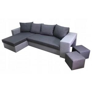 Kampinė sofa + PUFAI