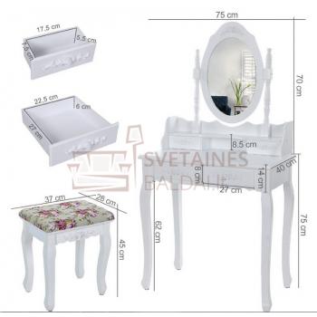 Kosmetinis staliukas + kėdė RIMA