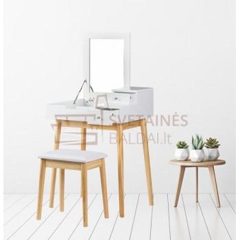 Kosmetinis staliukas ANDRA + kėdė