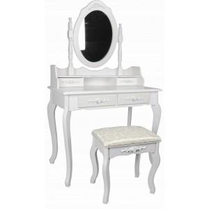 Kosmetinis staliukas PURIENA + kėdė