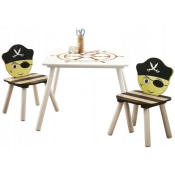 Vaikiškas stalas + 2 kėdės PIRATAS