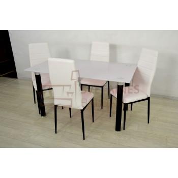 Stalas + 4 kėdės WHITE