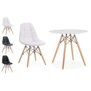 Apvalus stalas 120 cm + 4 ECO kėdės