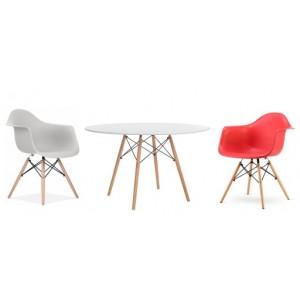 Apvalus stalas + 4 kėdės