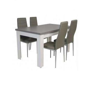 Ištiesiamas stalas + 4 kėdės