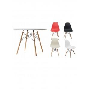 Apvalus stalas 120 cm + 4 kėdės